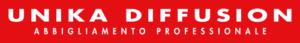 Unika diffusion logo aziendale, abbigliamento da lavoro