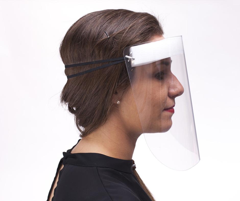 visiera protettiva trasparente per viso