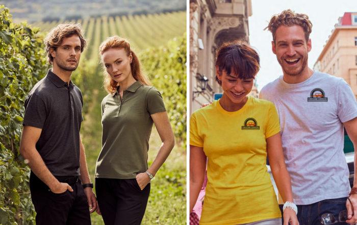 abbigliamento estivo adatto al lavoro: tshirt e polo personalizzabili